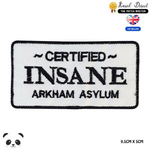 Certified-Insane-Batman-Embroidered-Iron-On-Sew-On-Patch-Badge-For-Clothes-etc