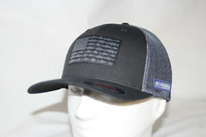 Columbia PFG Fish Flag Mesh Fitted Flexfit Ball Cap in BLACK L//XL 7-7 3//4
