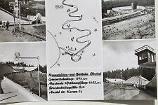 21865 AK Oberhof DDR Rennschlitten- und Bobbahn Strecke Kanal Personen um 1980