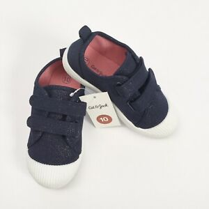 NWT Cat /& Jack Navy Hook And Loop Slip Ons Shoes Sneakers Size 10 Toddlers