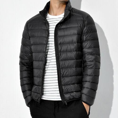 UK Men/'s Winter Warm Duck Down Jacket Packable Lightweight Puffer Coat Outwear