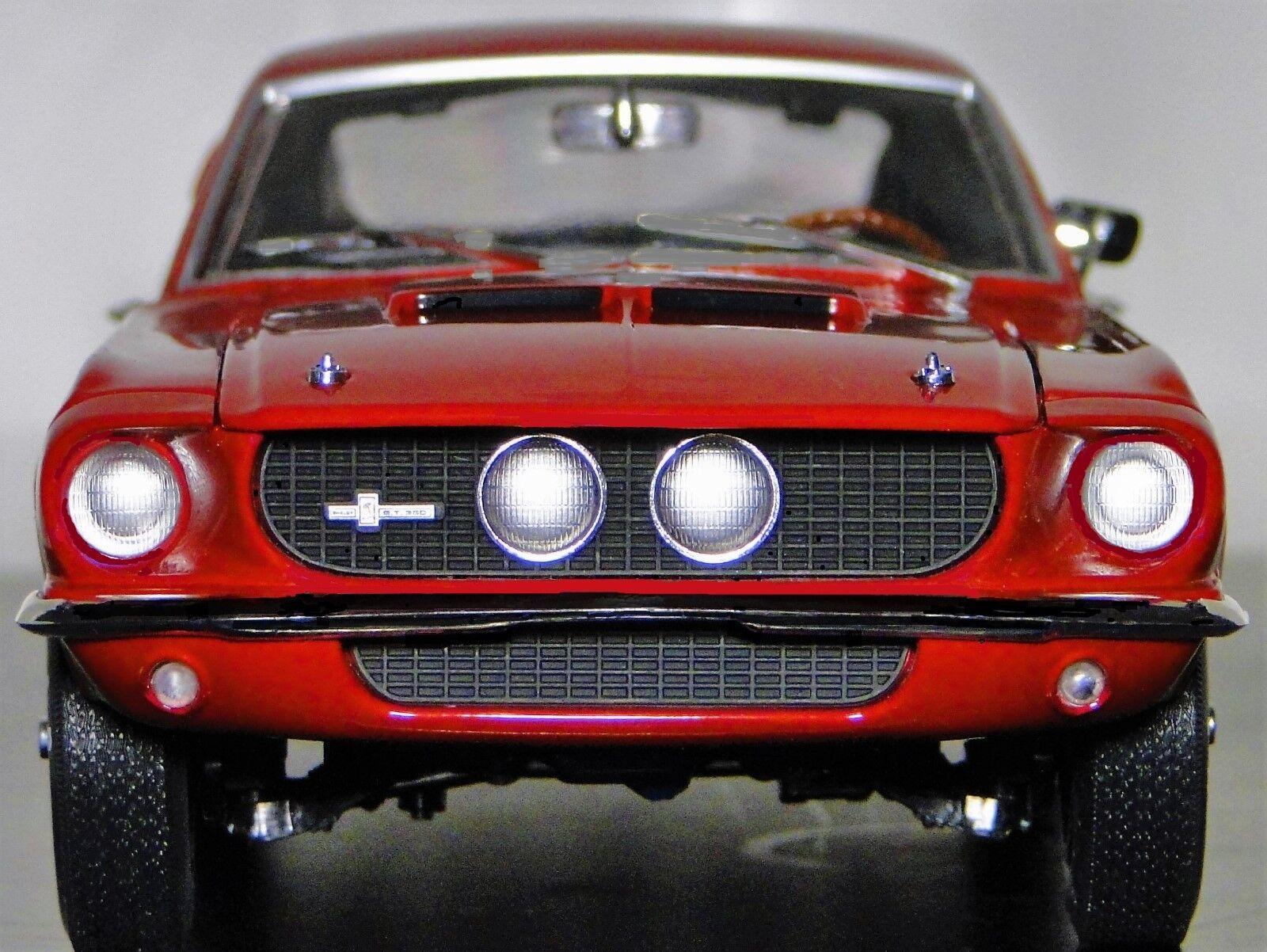 1967 Mustang Ford 1 GT 18 Sport Pony 43 Bil 24 årgång 40 Karusell Röd 12