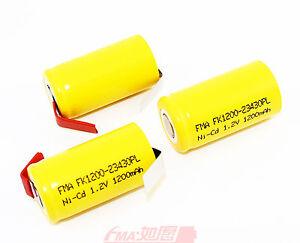 30pcs Ni Cd Sub C Sc 1 2v 1200mah Rechargeable Battery To