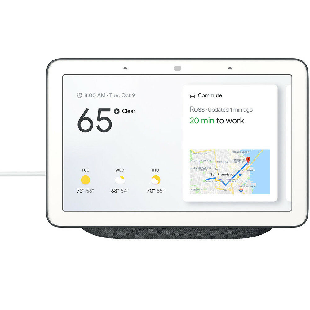 Google 7  Voice-Activated Smart Assistant Home Hub - Charcoal