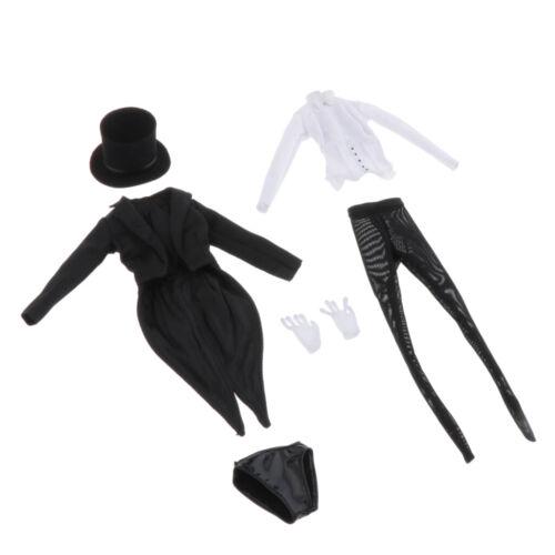 Golves Stocking For Hot Toys//   //Kumik Action Figures 1//6 Tuxedo Hat