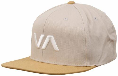 RVCA VA Snapback Hat Grey Ghost New