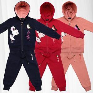 Costume-de-jogging-pour-enfants-Tailleur-Maison-Fille-Sweat-a-Capuche-Polaire