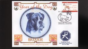 YEAR OF THE DOG STAMP ILLUSTRATED SOUVENIR COVER, BOXER 5