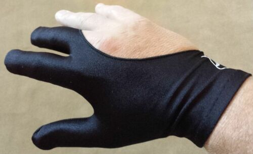Full Fingers Washable Black Pro Series Pool Cue Gloves Choose Size Sm-XL 2