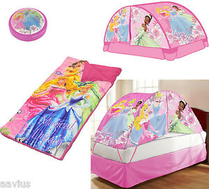 Image is loading Disney-Princess-3-Piece-Dream-Set-Slumber-Girls-  sc 1 st  eBay & Disney Princess 3-Piece Dream Set Slumber Girls Sleeping Bag Tent ...