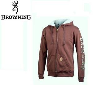New Hoodie Browning Zip Brown Frearson Full Un1qxfUw