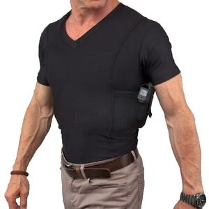 New with Damages UnderTech Undercover Mens Concealment V Neck Compression Shirt /2918724