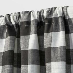 Target Rod Pocket Cafe Tier Curtain Pair Charcoal Gray