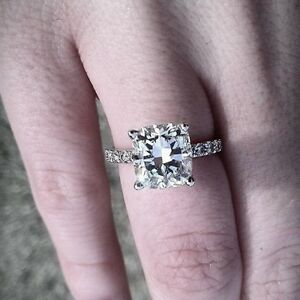 2-20-ct-Radiant-Cut-Diamond-Engagement-Ring-Pave-Authentic-EGL-USA-G-VS1-18k-WG