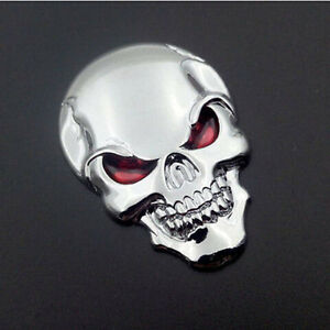 3D-Skull-Skeleton-Car-Chrome-Badge-Universal-Fits-Auto-Rear-Trunk-Emblem-Sticker