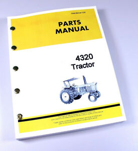 Parts Manual For John Deere 4320 Tractor Catalog Assembly Exploded