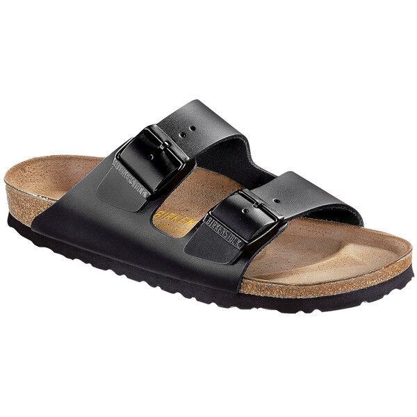 Birkenstock Arizona Glattleder Schuhe black 051191 Sandalen Weite normal