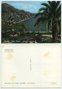 49853-Ravello-Villa-Rufolo-Giardino-Echtfoto-koloriert-alte-AK