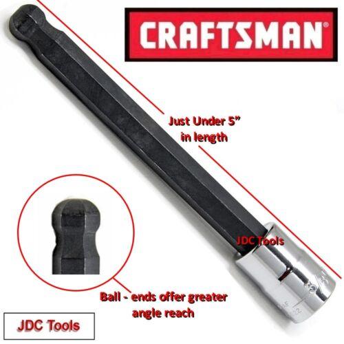 CRAFTSMAN HAND TOOLS 5pc 1//4 3//8 SAE Long Hex Allen bit ratchet socket set