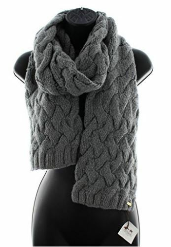 d83d169326e Coach 83104 Women's Braided Chunky Cable Knit Wool Winter Scarf Charcoal  Gray