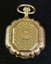 Vintage Women's 14K Gold Pocket Watch w/ Photo