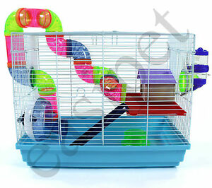 Syrian-Dwarf-Hamster-Gerbil-Mouse-Rat-Rodent-Small-Pet-Cage-House-Wheel-Easipet