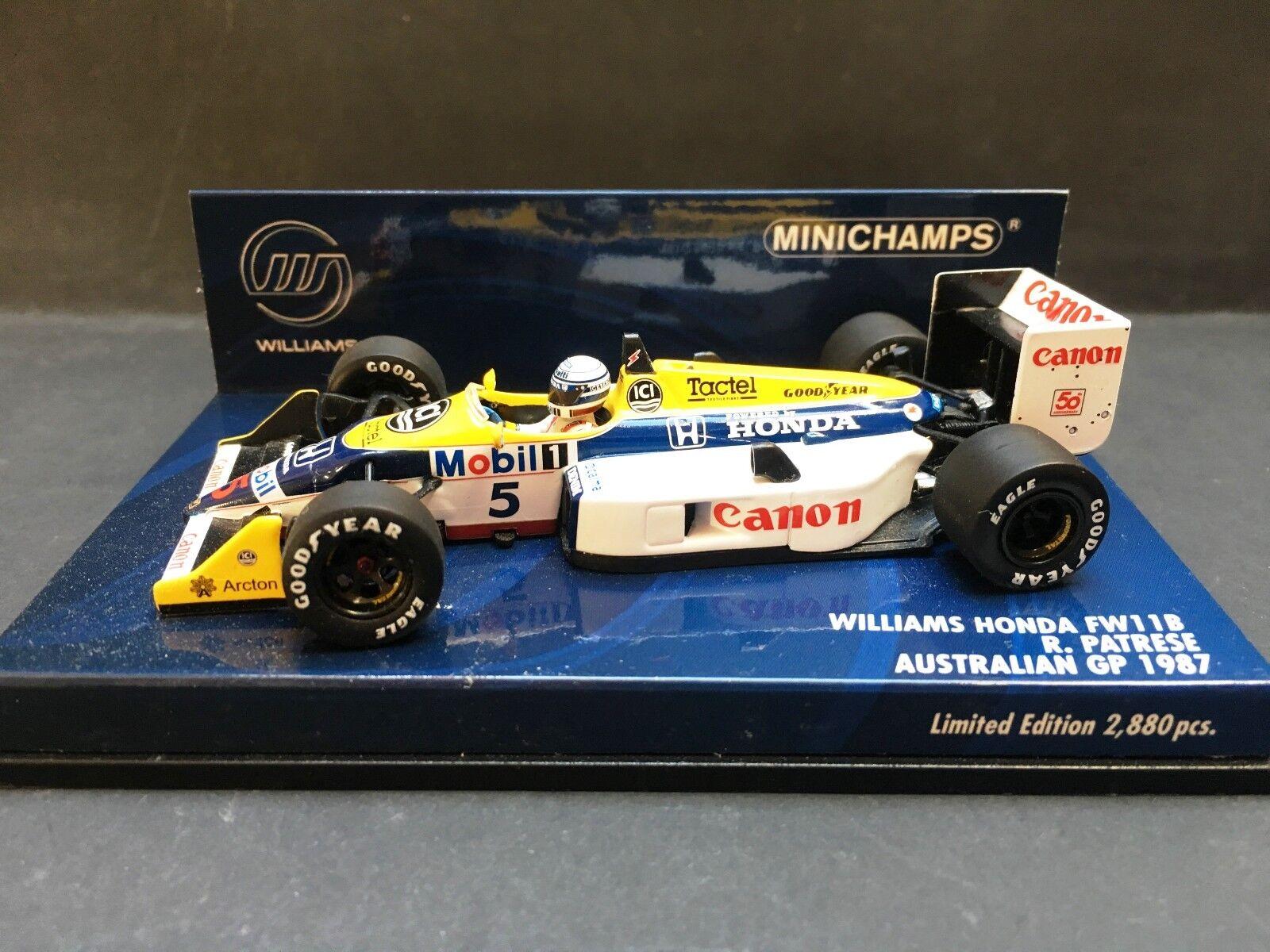 Minichamps - Ricardo Patrese - Williams - FW11B - 1987 - 1 43 - Australian GP