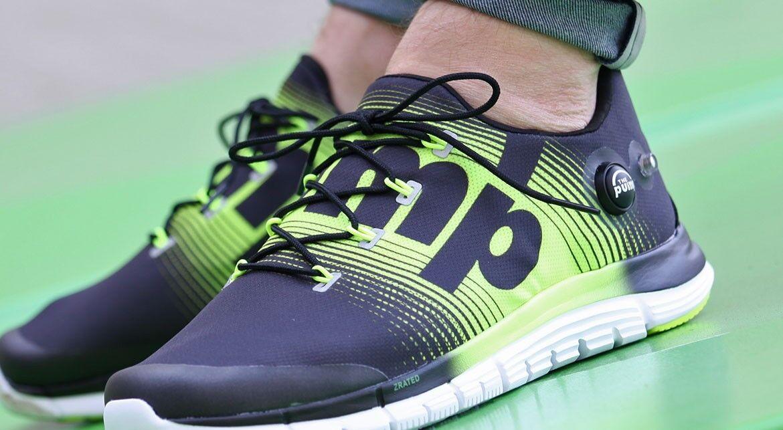 Nuevo en la caja para Hombre Reebok zpump fusión Negro Volt Correr Atléticos Crossfit Zapatillas Zapatos