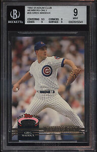 1992-Stadium-Club-Members-Only-Greg-Maddux-Mint-BGS-9-Sub-9-5-Chicago-Cubs
