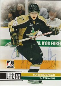 Olivier-Archambault-2009-2010-Foreurs-Val-D-039-Or-QMJHL-card-146-AUTOGRAPH