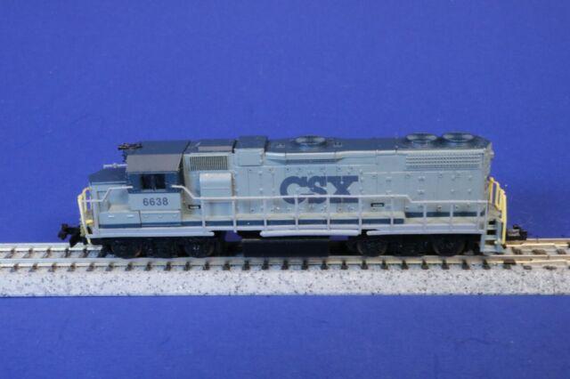 Life-Like N Scale Non-Running CSX 6638 GP38 Diesel Engine Locomotive 7842