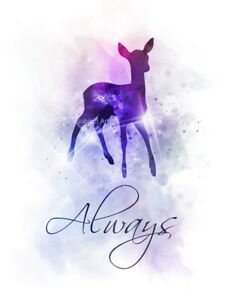 a771c02c5 Image is loading ART-PRINT-Always-Doe-Deer-Quote-Severus-Snape-