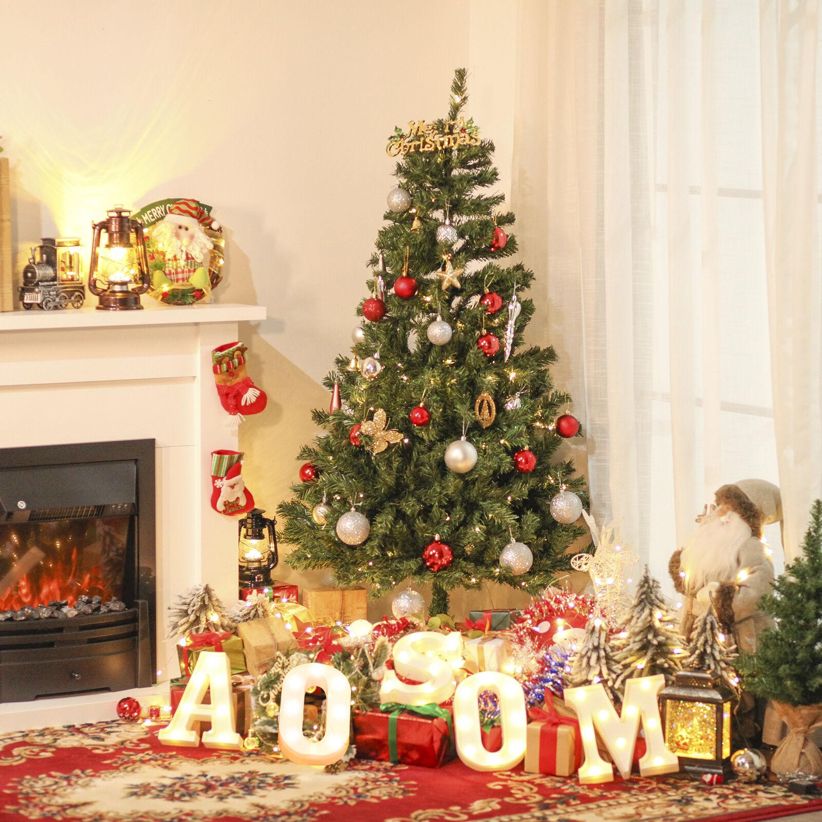Árbol Artificial de Navidad 170 Luces LED Base Plegable Interiores Φ75x150 cm