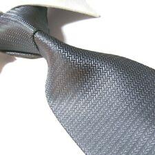 "Extra Long Polyester Woven Tie,Microfibre Gray Solid Men's XL Necktie PL353 63"""