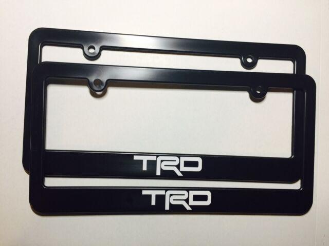 Charming Toyota Racing Development TRD Plastic License Plate Frame Tundra Tacoma  4Runner