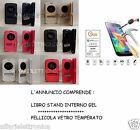 PER ASUS ZENFONE 3 MAX ZC520TL ZC520TC CUSTODIA COVER LIBRO + PELLICOLA VETRO 9H
