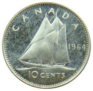 (f75) - Kanada Canada - 10 Cents 1964 - Segelschiff Schiff - Proof Like - Km# 51