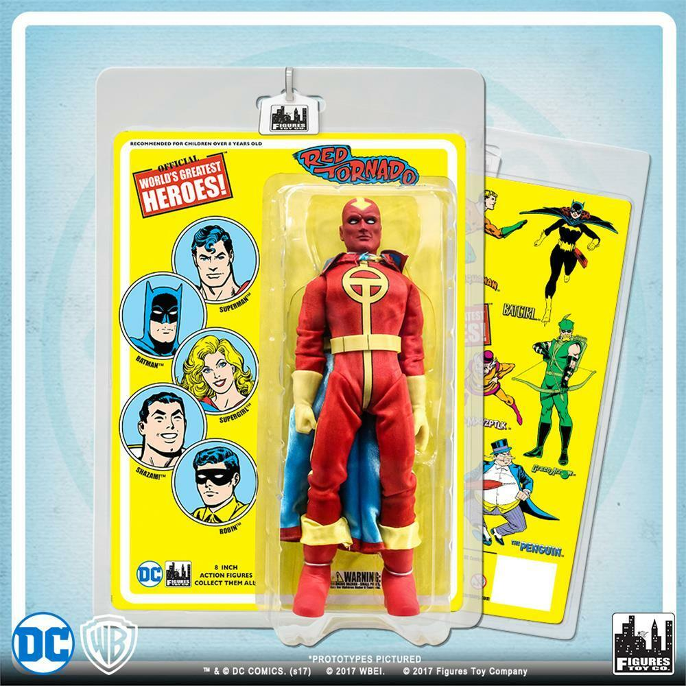 DC Comics Retro Red Tornado on retro styled card 8 action figure  NEW sealed