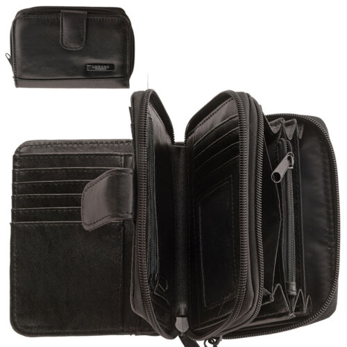 Ladies Womens Super Soft Nappa Leather Bi-Fold Purse with Multiple Compartments