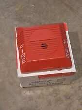 Wheelock Fire Alarm Horn Model Nh 1224r Red With Box