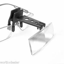 Clip-On Reading Glasses Magnifier lens Magnifying glass hands free clip on lense