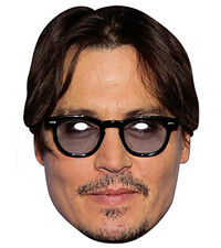 Jonny Depp Celebrity 2D Card Party Face Mask Fancy Dress Up Hollywood Actor Star