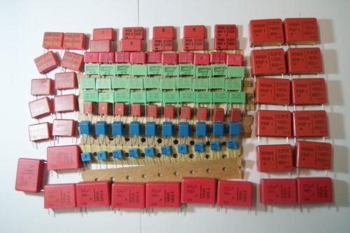 100pcs KIT capacitor MKP  MKT 6.8nf 10nf 12nf 22nf 33nf 150nf  2.2uf WIMA ROE
