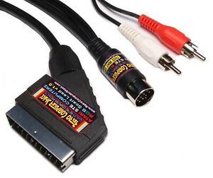 Atari-520STE-amp-1040STE-High-Quality-RGB-Scart-Lead-Video-Cable-TV-AV-Lead-2mtr