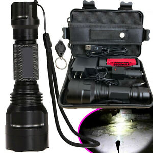 Tactical-Military-350000LM-T6-LED-Flashlight-18650-Torch-Work-Light-Headlamp