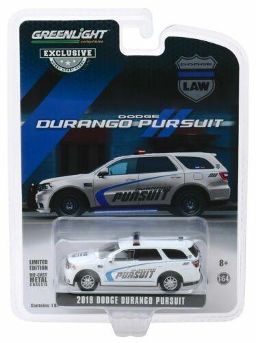 2019 Dodge Durango Pursuit Law POLICE SUV White** Greenlight Hobby 1:64 NEU