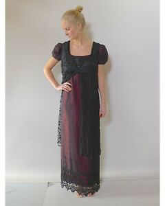 JAton-Couture-designer-16-L-Titanic-red-black-silk-lace-dress-costume
