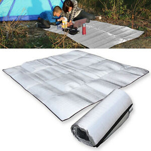 Insulated Aluminium Foil Mat Outdoor Camping Ground Grass Blanket Sleeping Pad