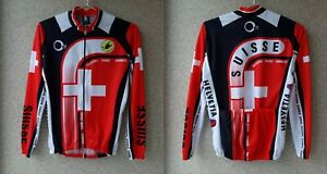 Castelli-Cycling-Shirt-National-Suisse-Camiseta-Swiss-Jersey-Size-S-1995-2000