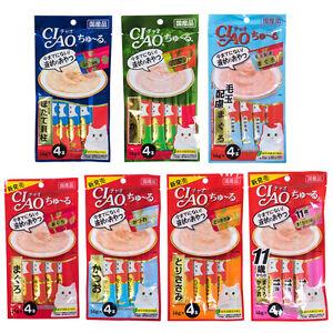 Ciao Chu ru Cat Paste Treats Inaba Feline Creamy Snacks with Vitamin E 14gx4